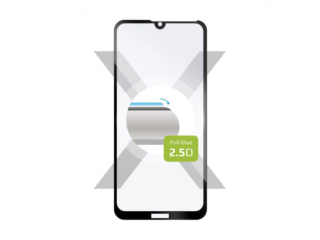 Ochranné tvrzené sklo FIXED Full-Cover pro Huawei Y7 (2019), lepení přes celý displej, černé