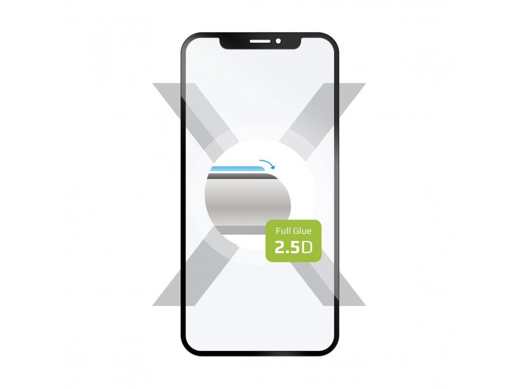 Ochranné tvrzené sklo FIXED Full-Cover pro Samsung Galaxy A80, lepení přes celý displej, černé