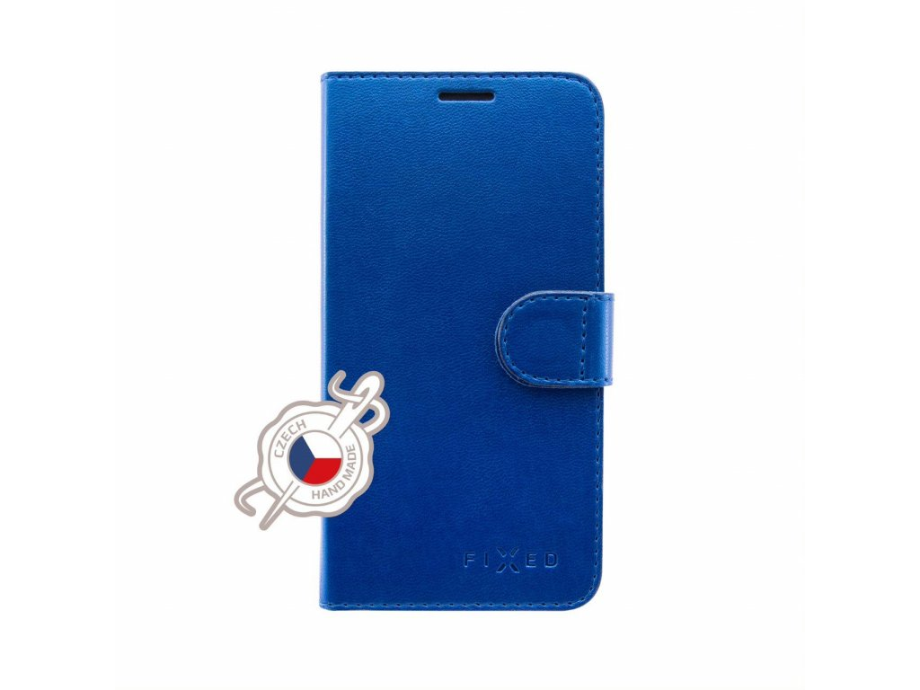 Pouzdro typu kniha FIXED FIT Shine pro Samsung Galaxy Xcover 4/4S, modré