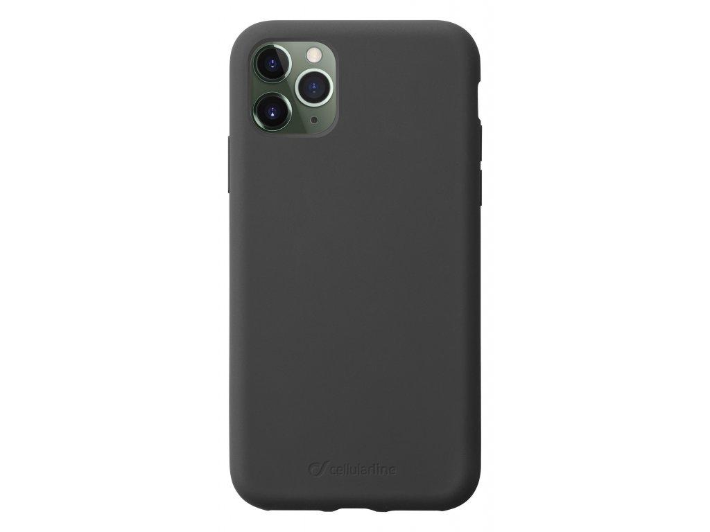 Ochranný silikonový kryt CellularLine SENSATION pro Apple iPhone 11 Pro, černý