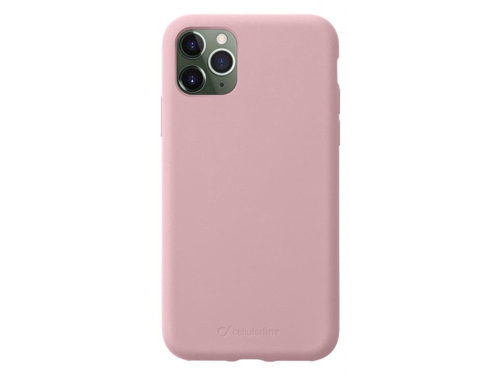 Ochranný silikonový kryt CellularLine SENSATION pro Apple iPhone 11 Pro, růžové