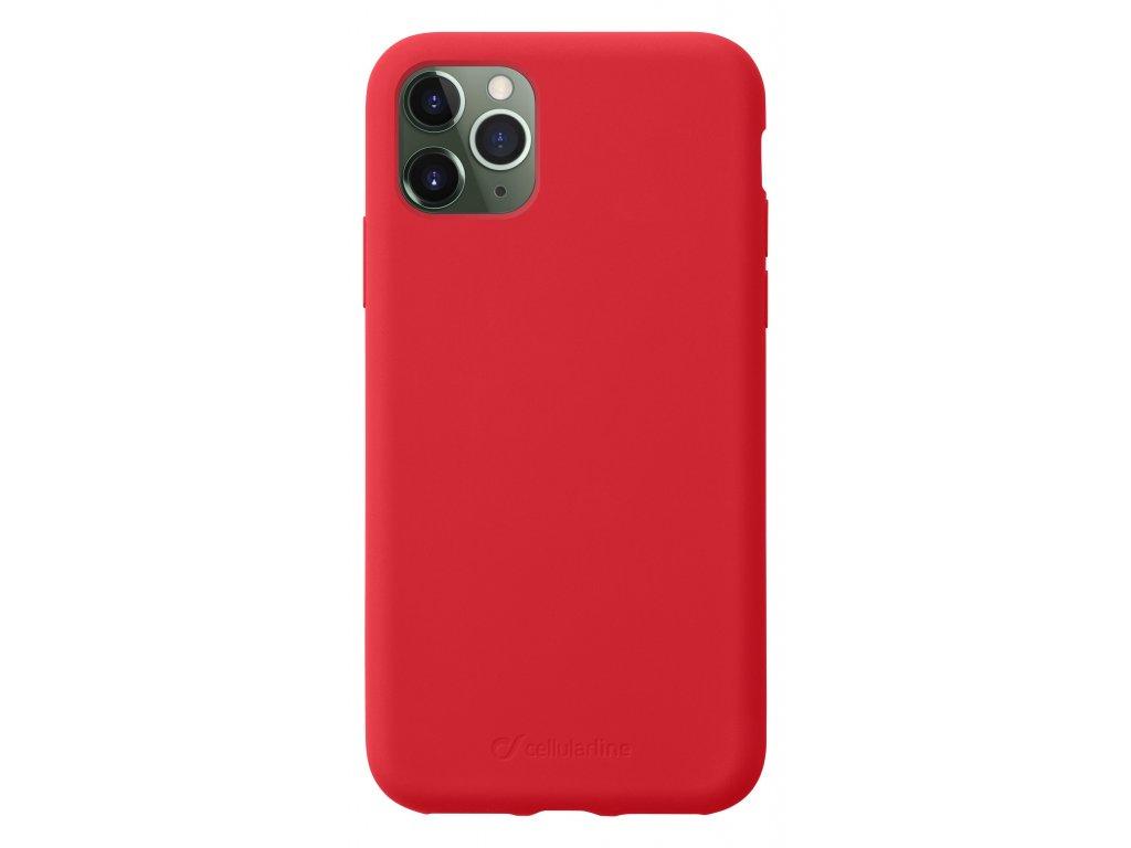 Ochranný silikonový kryt CellularLine SENSATION pro Apple iPhone 11 Pro, červený