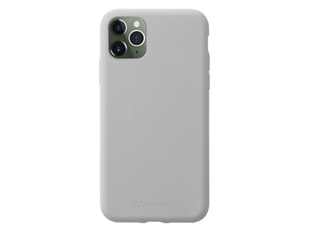 Ochranný silikonový kryt CellularLine SENSATION pro Apple iPhone 11 Pro, šedý