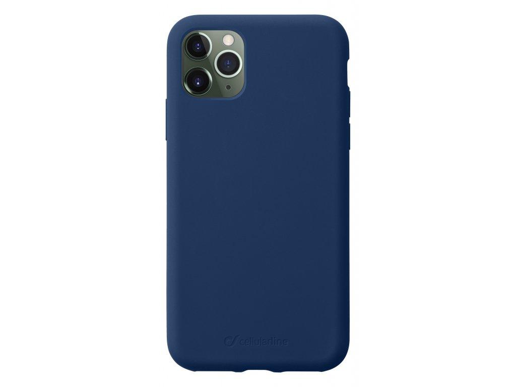 Ochranný silikonový kryt CellularLine SENSATION pro Apple iPhone 11 Pro Max, modrý