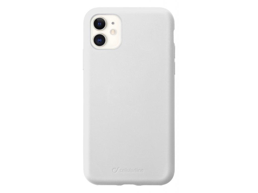 Ochranný silikonový kryt CellularLine SENSATION pro Apple iPhone 11, bílý