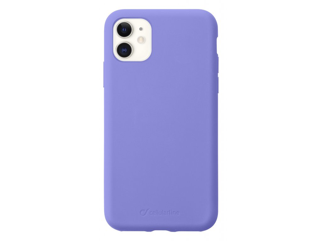 Ochranný silikonový kryt CellularLine SENSATION pro Apple iPhone 11, fialový