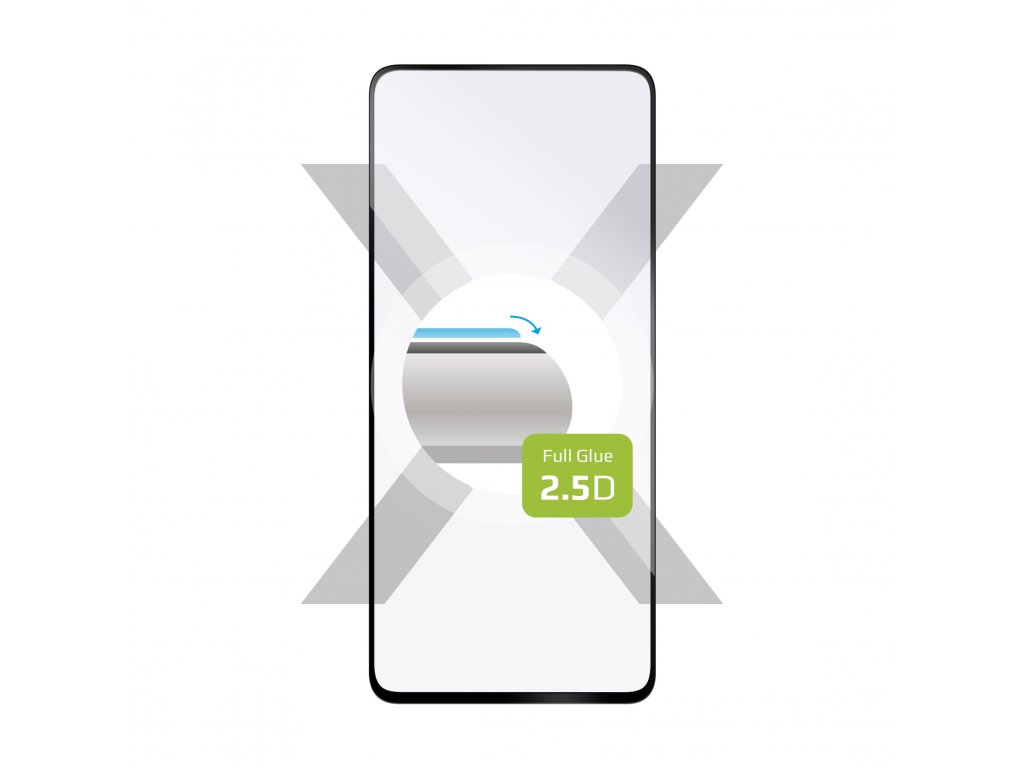 Ochranné tvrzené sklo FIXED Full-Cover pro Samsung Galaxy Note 10 Lite/A81, lepení přes celý displej, černé