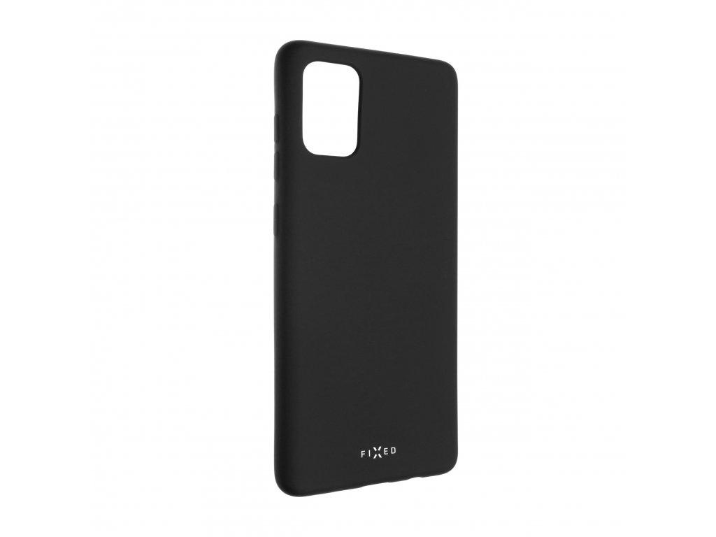 Zadní pogumovaný kryt FIXED Story pro Samsung Galaxy A71, černý