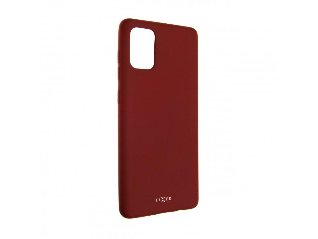 Zadní pogumovaný kryt FIXED Story pro Samsung Galaxy A71, červený