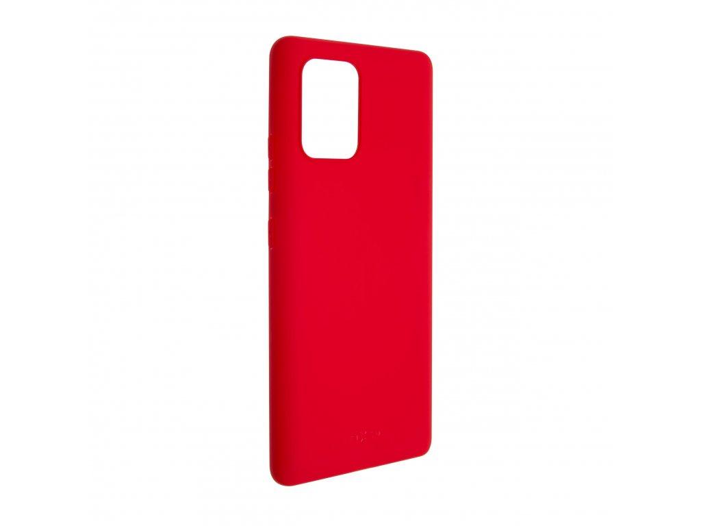 Zadní pogumovaný kryt FIXED Story pro Samsung Galaxy S10 Lite, červený