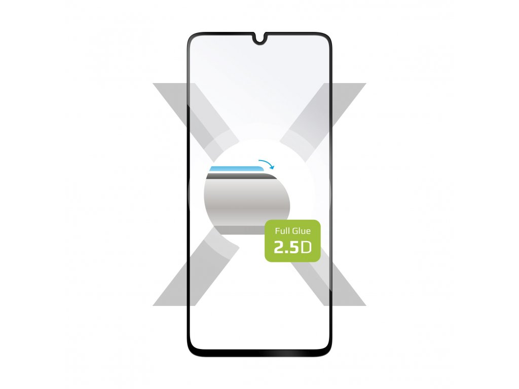 Ochranné tvrzené sklo FIXED Full-Cover pro Samsung Galaxy A41, lepení přes celý displej, černé