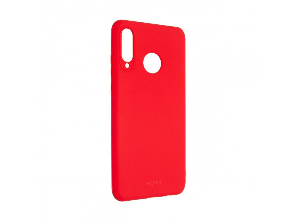 Zadní pogumovaný kryt FIXED Story pro Huawei P30 Lite, červený