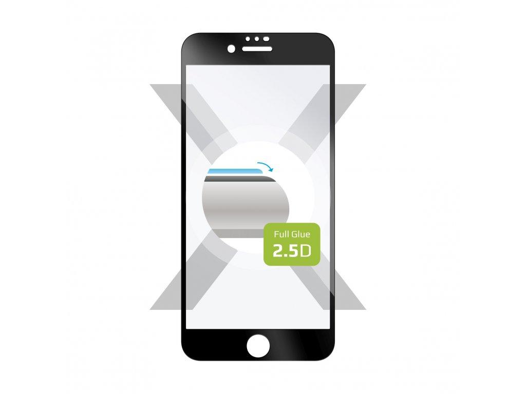 Ochranné tvrzené sklo FIXED Full-Cover pro Apple iPhone 7/8/SE (2020), lepení přes celý displej, černé