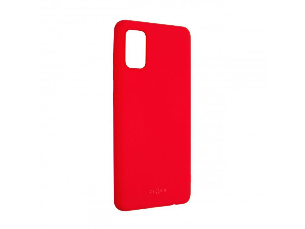 Zadní pogumovaný kryt FIXED Story pro Samsung Galaxy A41, červený