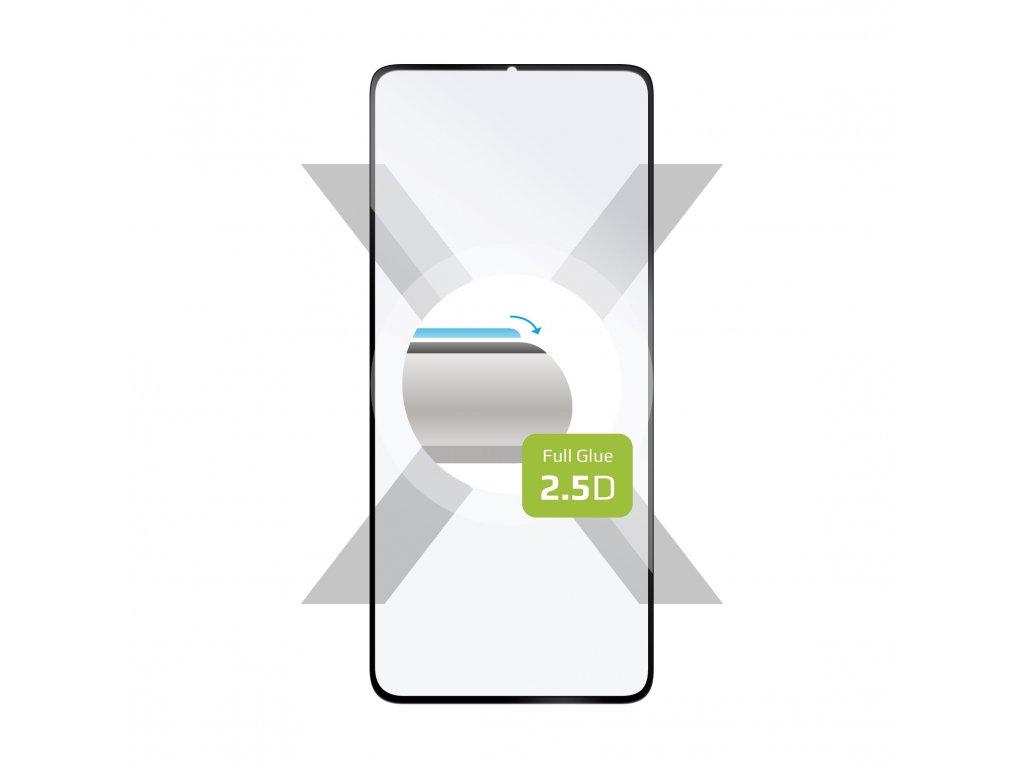 Ochranné tvrzené sklo FIXED Full-Cover pro Huawei Y6p, lepení přes celý displej, černé
