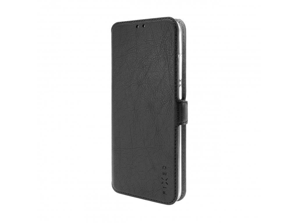 Tenké pouzdro typu kniha FIXED Topic pro Xiaomi Redmi Note 9, černé