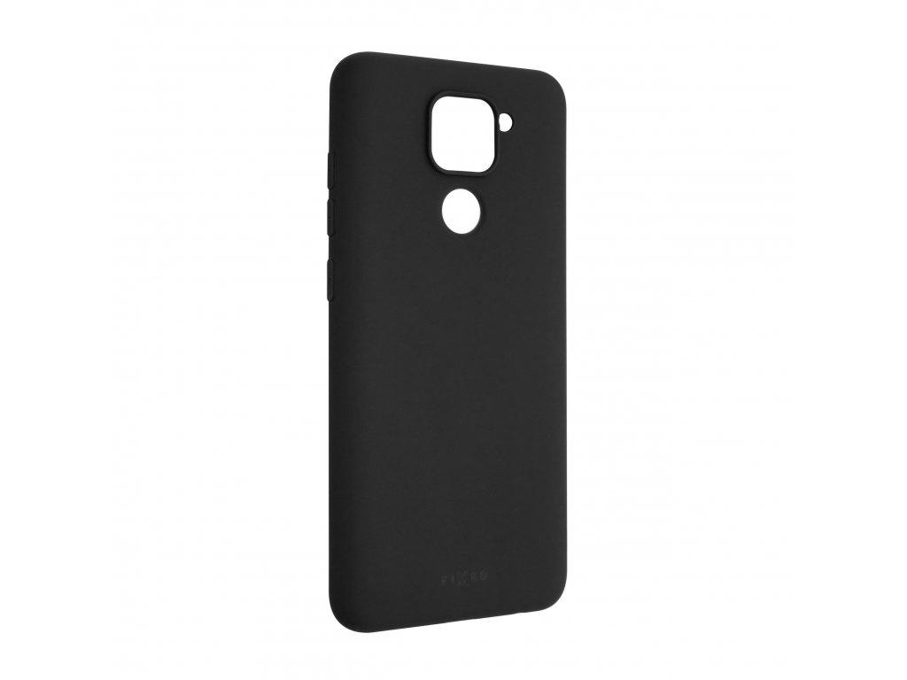 Zadní pogumovaný kryt FIXED Story pro Xiaomi Redmi Note 9, černý
