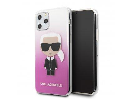 Karl Lagerfeld Iconik Kryt pro iPhone 11 Pro Gradient Pink