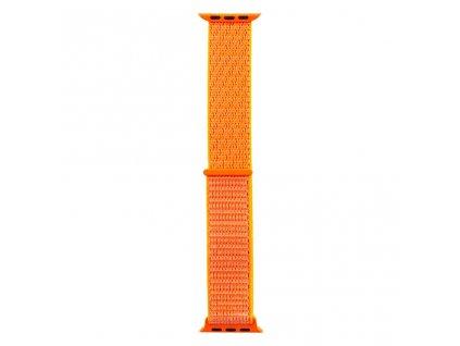 Látkový Řemínek pro iWatch 1/2/3/4/5/6/SE 42/44mm Orange