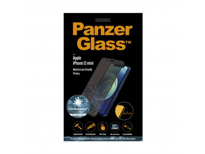 PanzerGlass Edge-to-Edge Privacy Antibacterial pro Apple iPhone 12 mini černé