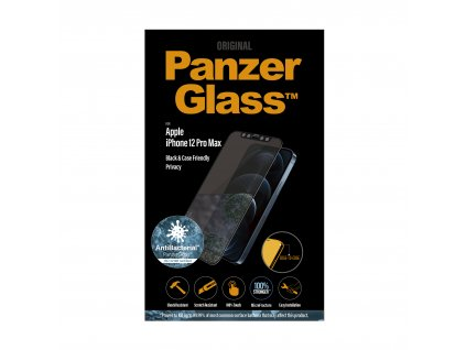 PanzerGlass Edge-to-Edge Privacy Antibacterial pro Apple iPhone 12 Pro Max černé