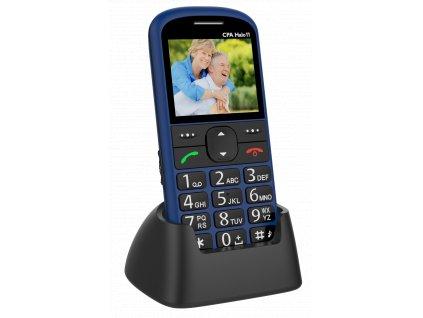 Telefon CPA Halo 11 Senior modrý s nabíjecím stojánkem