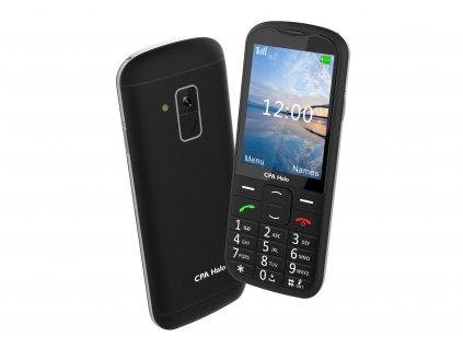 Telefon CPA Halo 18 Senior černý s nabíjecím stojánkem