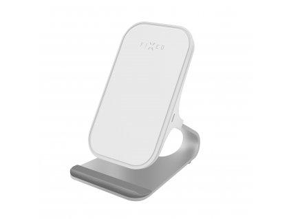 Stojánek s bezdrátovým nabíjením FIXED Frame Wireless, bílý