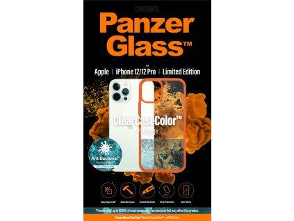 PanzerGlass ClearCase Antibacterial pro Apple iPhone 12/12 Pro (oranžový - PG Orange)