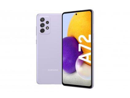 A72 5G violet FrontBack