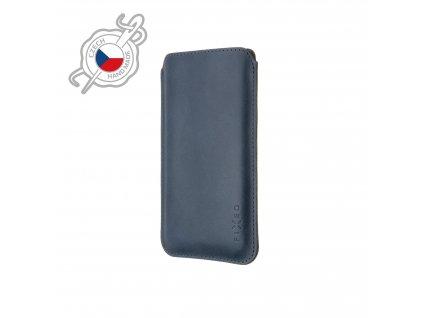 Tenké pouzdro FIXED Slim vyrobené z pravé kůže pro Apple iPhone 12/12 Pro/13/13 Pro, modré