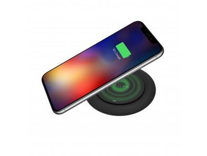 Podložka pro rychlé bezdrátové nabíjení telefonu FIXED Pad, 10W, černá