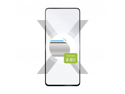 Ochranné tvrzené sklo FIXED Full-Cover pro Xiaomi Mi 10T/10T Pro/10T Lite, lepení přes celý displej, černé