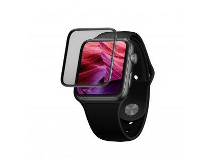 Ochranné tvrzené sklo FIXED 3D Full-Cover pro Apple Watch 40mm s aplikátorem, s lepením přes celý displej, černé
