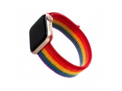 Nylonový řemínek FIXED Nylon Strap pro Apple Watch 44mm/ Watch 42mm, duhový