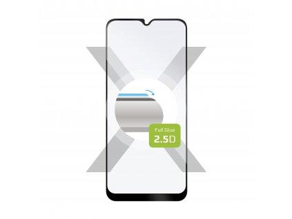 Ochranné tvrzené sklo FIXED Full-Cover pro Samsung Galaxy A02s, lepení přes celý displej, černé