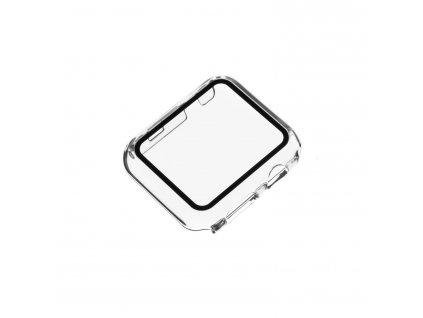 Ochranné pouzdro FIXED Pure s temperovaným sklem pro Apple Watch 44mm, čiré