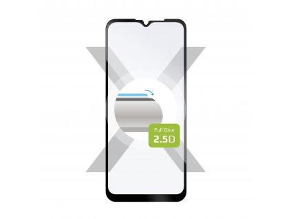 Ochranné tvrzené sklo FIXED Full-Cover pro Motorola  Moto G Play (2021), lepení přes celý displej, černé