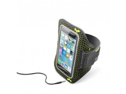 """Sportovní neoprénové pouzdro CellularLine ARMBAND RUNNING, pro smartphony do velikosti 5,2"""", černá"""