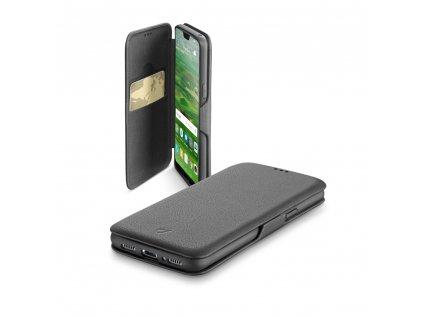 Pouzdro typu kniha CellularLine Book Clutch pro Huawei P20, černé