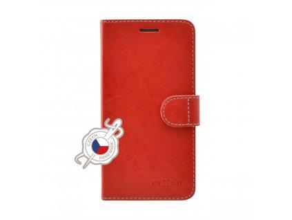 Pouzdro typu kniha FIXED FIT pro Samsung Galaxy A20e, červené