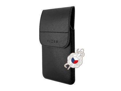 Pouzdro FIXED Pocket s klipem, PU kůže, velikost 4XL+, černé