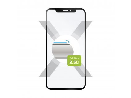 Ochranné tvrzené sklo FIXED Full-Cover pro Nokia 6.2/7.2, lepení přes celý displej, černé