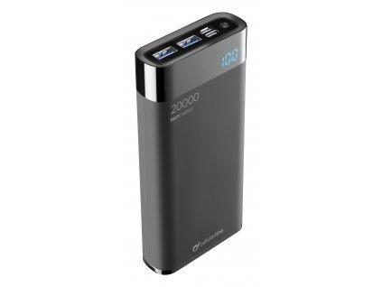 Kompaktní powerbanka Cellularline FreePower Manta HD 20000mAh, Smartphone Detect, USB-C + 2xUSB port, černá