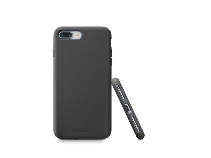 Ochranný silikonový kryt CellularLine SENSATION pro Apple iPhone 7 Plus/8 Plus, černý