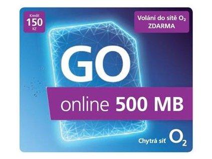 Předplacená SIM karta O2 s kreditem 150 Kč a 500 MB dat ZDARMA + 5 GB ZDARMA za dobití