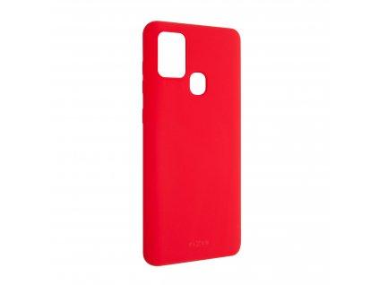 Zadní pogumovaný kryt FIXED Story pro SamsungGalaxy A21s, červený