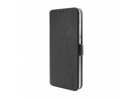 Tenké pouzdro typu kniha FIXED Topic pro Samsung Galaxy A20s, černé
