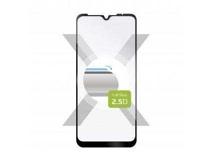 Ochranné tvrzené sklo FIXED Full-Cover pro Motorola Moto E7, lepení přes celý displej, černé