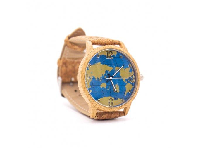 Korkové hodinky GLOBO
